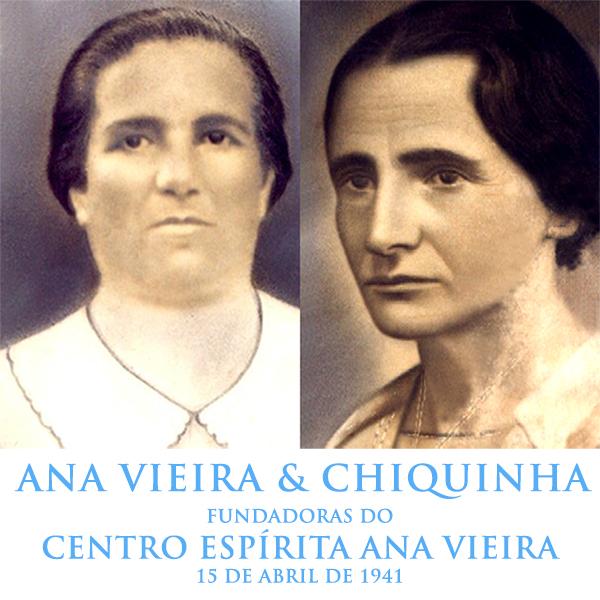 Ana Vieira e Francisca Siqueira Bicuda, fundadoras do Centro Espírita Ana Vieira